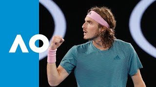 The upset of the AO! Tsitsipas' winning tiebreak v Federer (4R) | Australian Open 2019