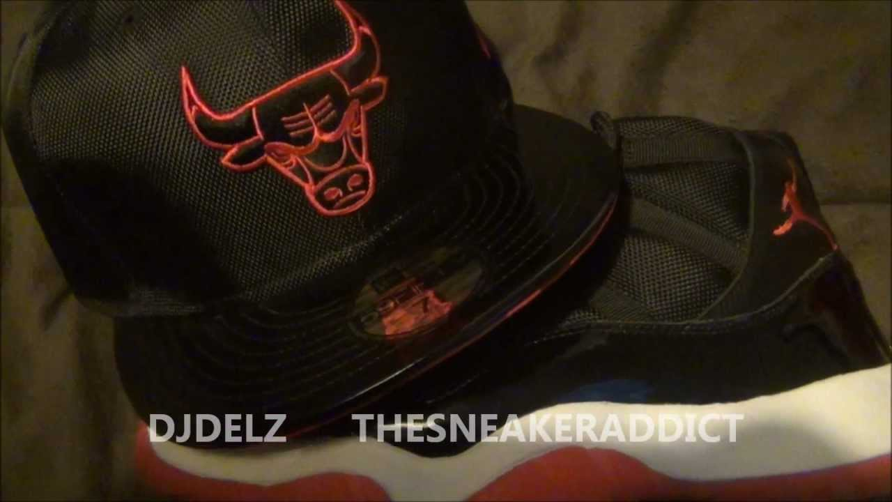 6be7f8d54ab New Era Bred Fitted Hat Review (Matches Air Jordan Bred 11) - YouTube