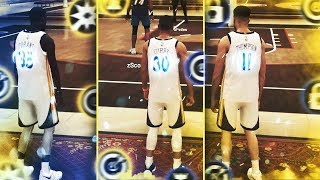 99 OVR STEPH CURRY, KEVIN DURANT and KLAY DESTROY COMP STAGE PLAYERS in NBA2K19