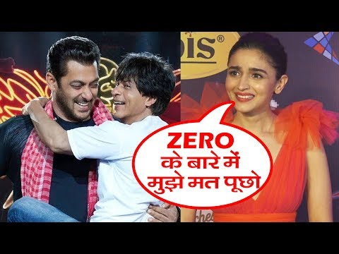 Alia Bhatt Reaction On Shahrukh's Zero Movie | Kids Choice Awards 2018