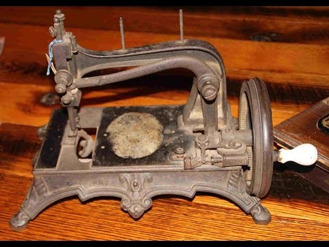 Tittel Rhenania Hand-Crank Sewing Machine Restoration, Unlocking & Disassembly