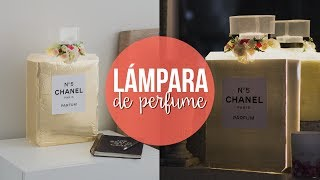 LÁMPARA EN FORMA DE PERFUME FÁCIL paperpopmx