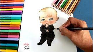 Cómo dibujar a Bebe Jefazo (Un Jefe en Pañales)   How to draw Boss Baby HD