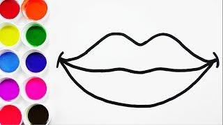 Cómo Dibujar y Colorear Boca de Arco Iris - Arte y Colores Para Niños - Draw  Mouth / FunKeep