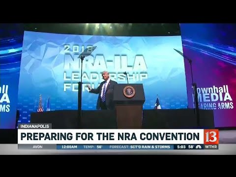 NRA convention preparations