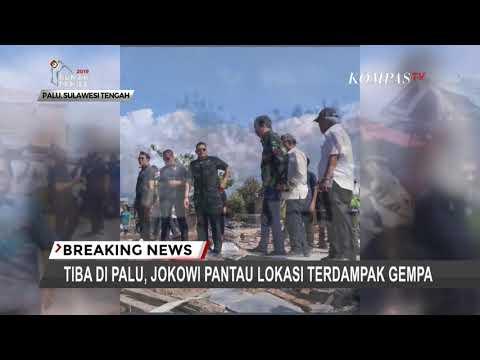 Tiba Di Palu, Jokowi Pantau Lokasi Terdampak Gempa