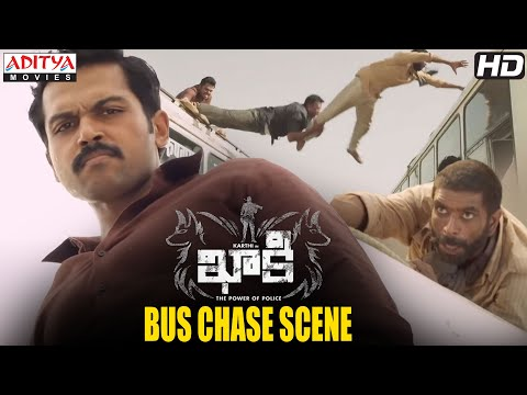 Khakee Movie Scenes | Bus Chase Scene | Karthi, Rakul Preet | H.Vinoth