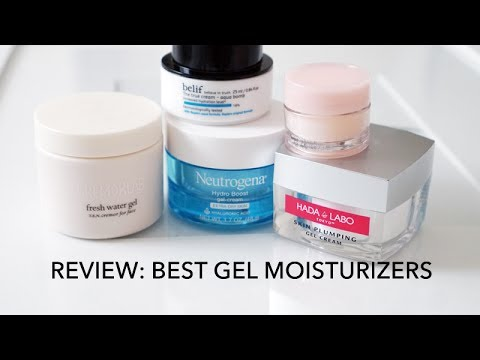 BEST GEL MOISTURIZERS REVIEW | 5 water gel moisturizers for oily/combination skin | LvL