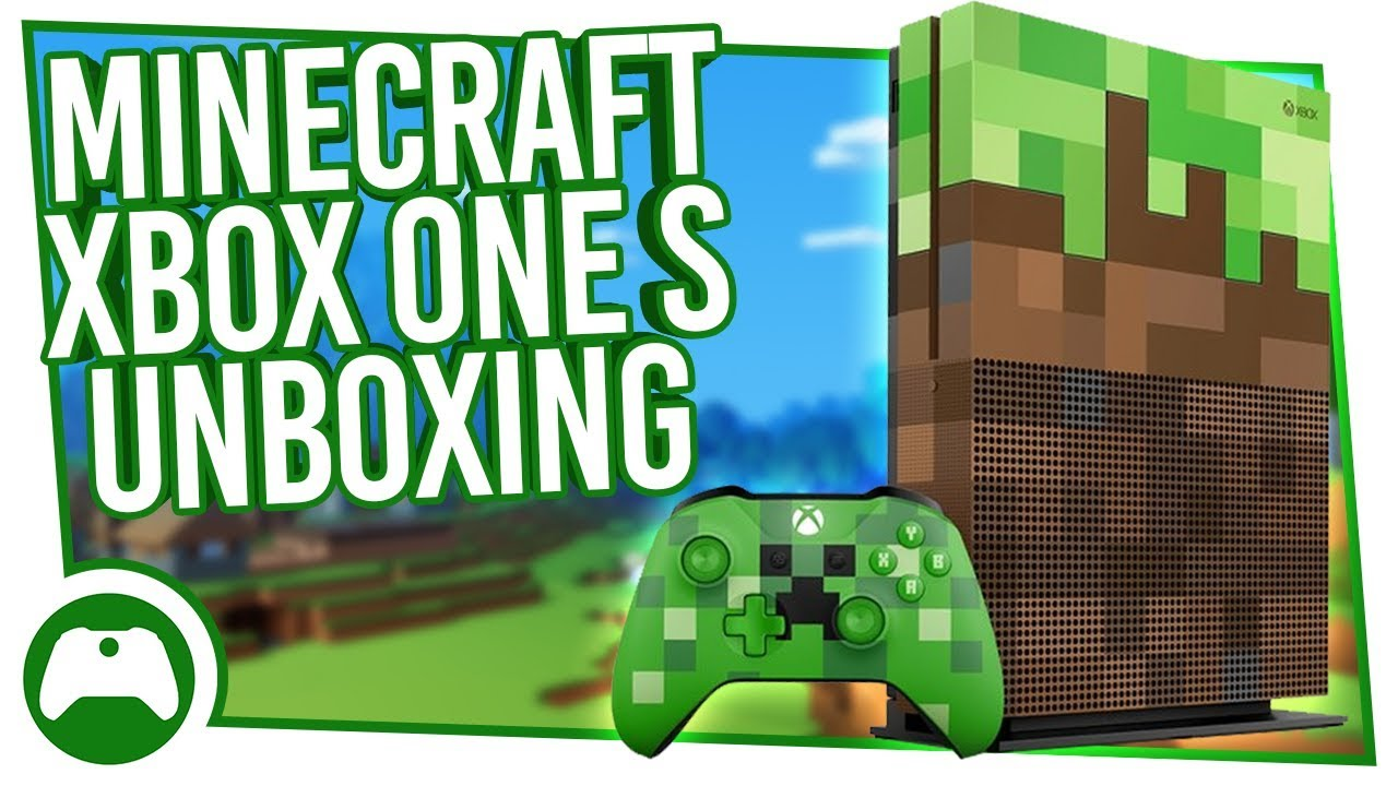 xbox one s minecraft limited edition unboxing