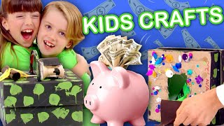 Make a Piggy Bank (with a Secret Compartment!) | KIDS CRAFTS | Universal Kids