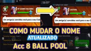 NOVO MÉTODO COMO MUDAR O NOME DA CONTA GOOGLE E MINICLIP 8 BALL POOL...