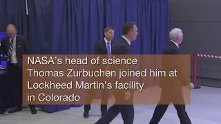 Vice President Sees Mars InSight Spacecraft in Colorado