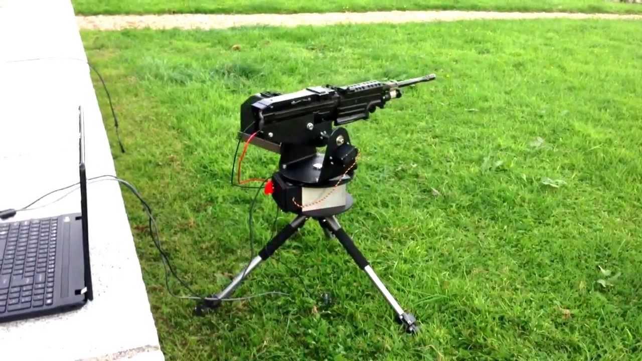 M249 Airsoft Sentry Gun - YouTube
