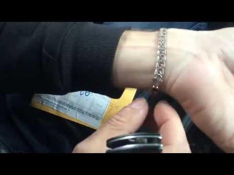 Распаковка Браслет золотой (розовое золото, размер 7 дюймов - 18 см) GB293 смотреть в хорошем качестве
