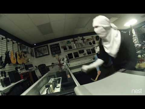 4 Robbers Smash and Grab Pawn Shop Texas Collin County HD VIDEO NEST CAM