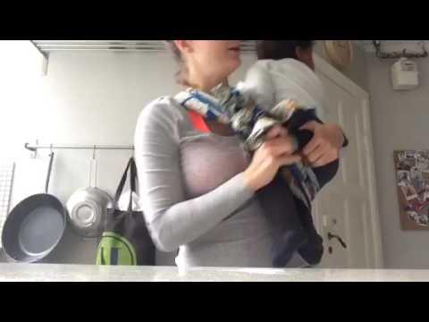 Sådan bæres din baby på siden i en slynge Afrika style. African baby wrap