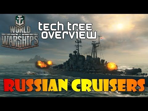 World of Warships - Tech Tree Overview - Russian Cruisers