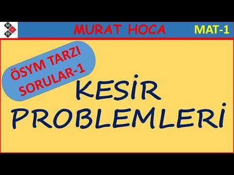 Kesir Problemleri ÖSYM TARZI SORULAR-1