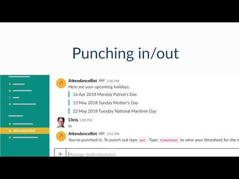 Time Tracking in Slack | AttendanceBot