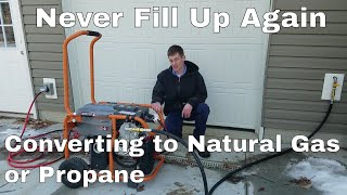 How To Convert Your Generator to Natural Gas or Propane