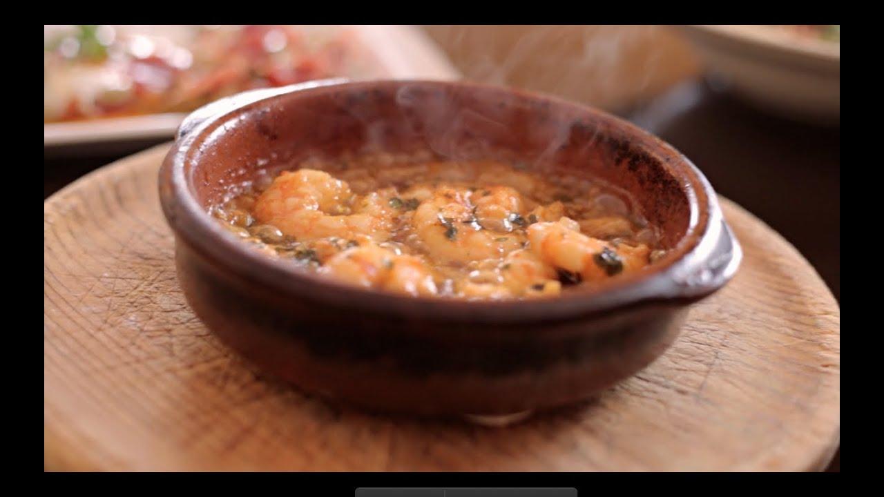 Mijas Spain Aroma Food Network Gambas Al Pil Pil Andaluz Baby Bean Dish Pizza Y Pasta Youtube