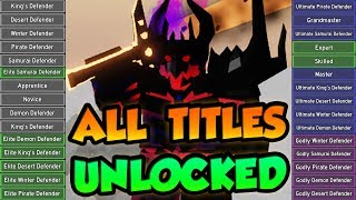 UNLOCKING EVERY TITLE IN DUNGEON QUEST! Completing the game! - Roblox