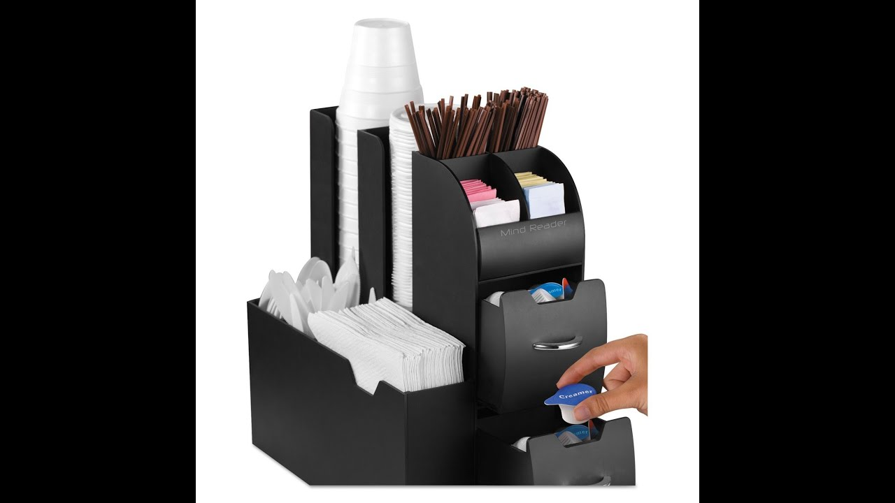 Review Mind Reader Coffee Condiment And Accessories Caddy Organizer Black