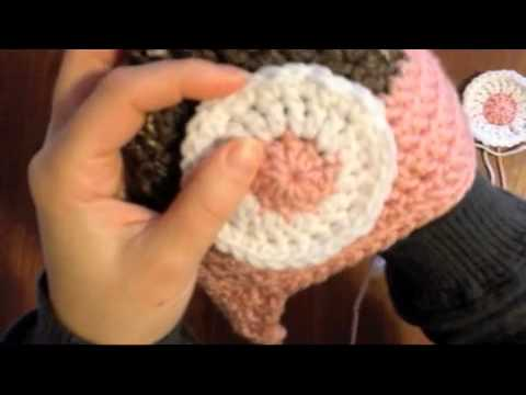 How To Sew On Crocheted Eyes To A Hat Youtube