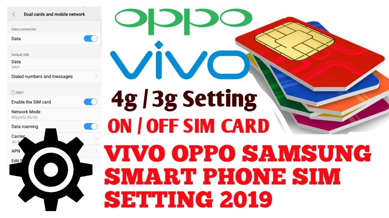 How To Find Sim Settings on Vivo Phones | Vivo Phones Sim Settings 4G, 3G,  2G, Dual Sim Setting