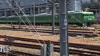 留置線に止まっている117系  JR京都駅  一人ひとりの思いを、届けたい JR西日本