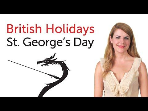British English Holidays - St. George's Day