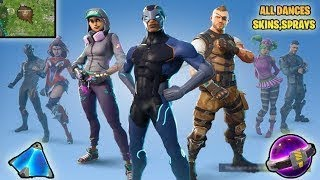 NEW!! ALL NEW SEASON SKINS, DANCES, DUSTY DEPOT DESTROYED Fortnite Battle Royale