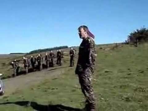 RAF Reg stand toe 2 toe with Paras & Marines (5 miler of death)