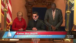 Sen. LaSata welcomes Father Huynh to the Michigan Senate