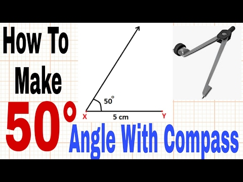 How To make 50 Degree Angle - With Compass