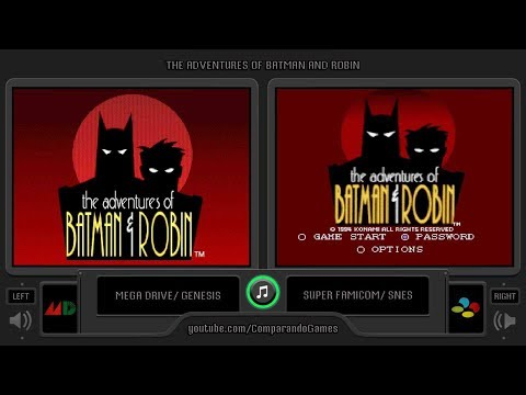 The Adventures Of Batman And Robin Sega Genesis Vs Snes Side By Side Comparison Youtube