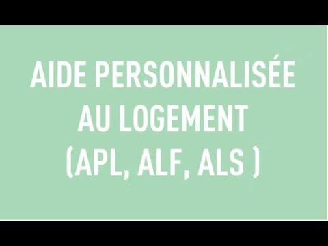 AIDE PERSONNALISÉE AU LOGEMENT (APL, ALF, ALS )