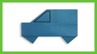 Как сделать машину из бумаги, оригами машинка, схемы / Игрушки своими руками, выкройки, видео, МК