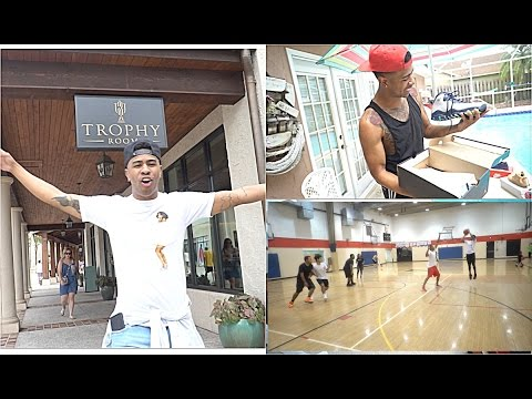 MICHAEL JORDAN PERSONAL SHOE STORE!! + 3v3 IRL BASKETBALL WITH SUBS! Vlog #2