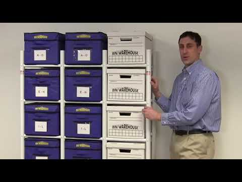 Bin Warehouse DFAE2MBFBW0618 18 File-box Bankers Box Organization Rack Storage System