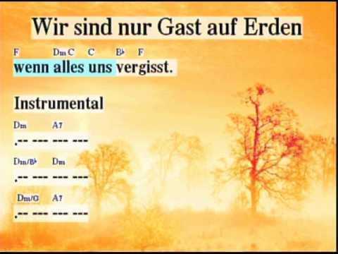 Wir sind nur Gast auf Erden - GL505 Moderne Version mit Text/Lyrics und Akkorden