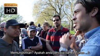 Alien worlds!? Aku tidak peduli! Mansur Vs atheis | Bahasa | Speakers corner | Hyde Park