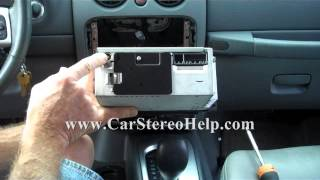Jeep Liberty 2002-2007 Car Stereo Removal