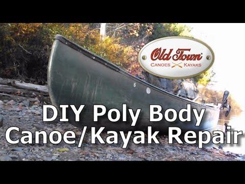 DIY Polyethylene Canoe hull and keel Repair for Zero Dollars