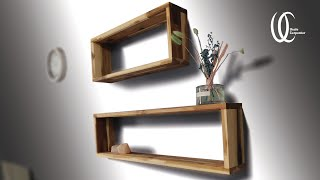 Making wall shelves so easy Completion of 30 minutes !! Wife's Mission: Making Boxed Wall Shelf.