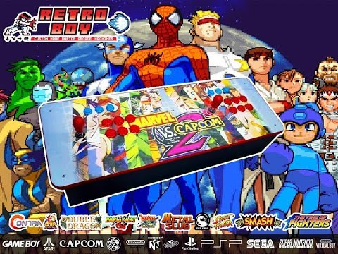 Custom Made Marvel VS Capcom 2 player Arcade Stick, loaded with 20,000 gamesHyperspin, 50 consoles - 동영상
