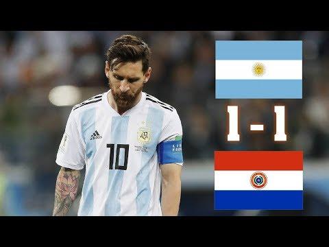 Аргентина - Парагвай 1:1 Обзор Матча 2019 HD