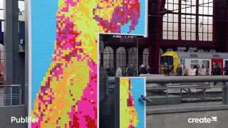 post it creates a giant artwork with clear channel create