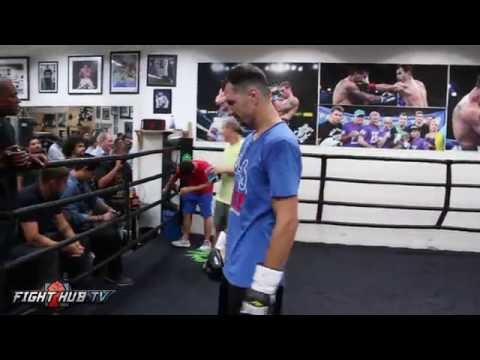 Terence Crawford vs. Viktor Postol full video- COMPLETE Postol media workout video