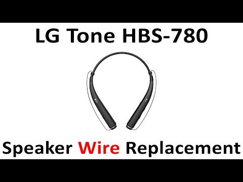 Tutorial How To Replace Lg Tone Hbs 780 Repair Speaker Wire Blown Speaker Not Working Youtube